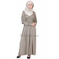 Royal bright greenish grey colored abaya