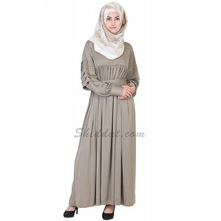 Royal bright greenish grey colored abaya