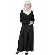 Royal  Cod Grey Black Colored Abaya