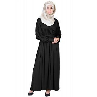Royal  Cod Gray Black Colored Abaya