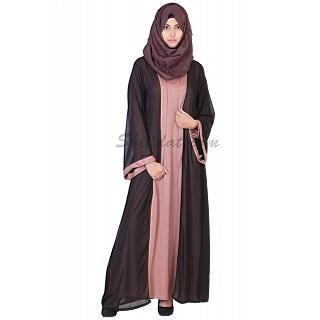 Classic Kimono Black Abaya - Double Layer