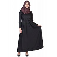 Elegant Black colored  Full Flair Abaya