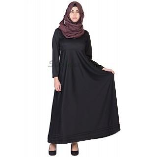 Elegant Black colored  Full Flair Abaya