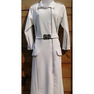 Elegant Coat Style white colored Abaya