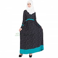Abaya with white polka dots
