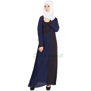 Two toned Abaya- Crepe fabric