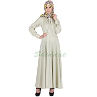 Tie Abaya in Thistle Green color