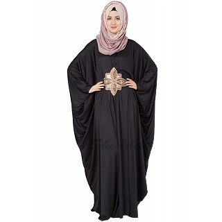 Black Kaftan with Golden Embroidery
