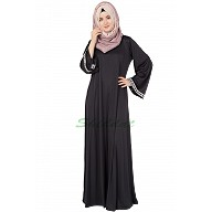 Simple A-Line Black Abaya