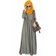 Frock style abaya - Royal Greenish Grey