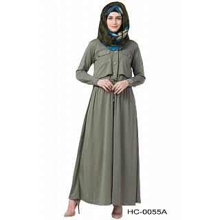 Designer Olive Green abaya