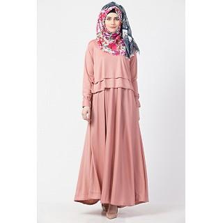Designer Cape abaya- Rose Gold