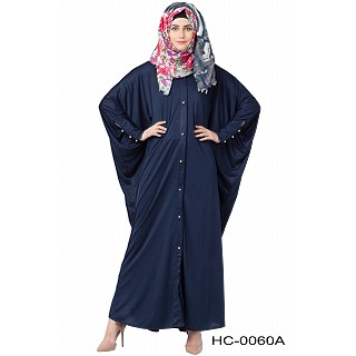 Front open style Kaftan abaya- Navy Blue