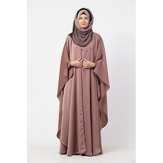 Premium Double layered Kaftan abaya- Rose Gold