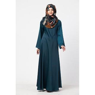 A-line abaya in premium Nida- Teal Green