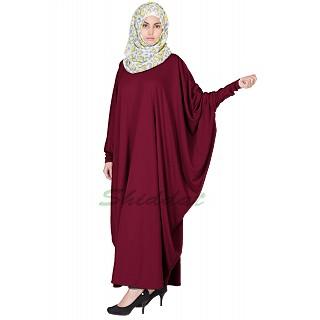 Classic Kaftan abaya- Maroon