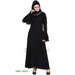 A-line Nida abaya- Black