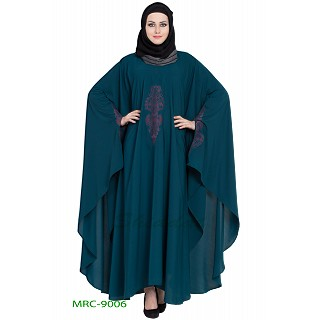 Embroidered designer Kaftan abaya- Midnight Blue