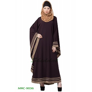Kaftan abaya with designer border- Purple
