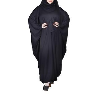 Kaftan abaya with bow- Black