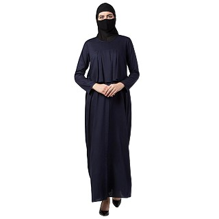 Casual abaya with an extra layer- Navy Blue
