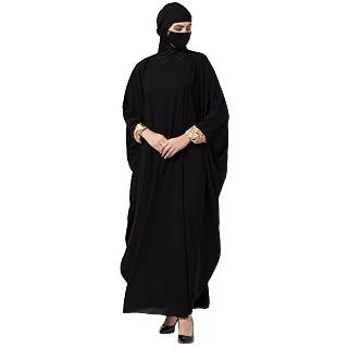 Kaftan Abaya with lacework- Black