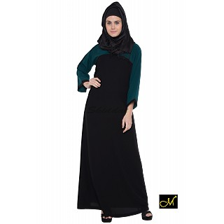 Abaya- Black and Midnight Blue Colored