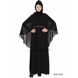Cape abaya- Black-Grey