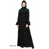 Dual colored abaya- Black & Green