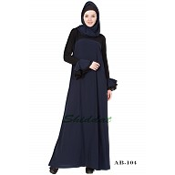 Dual colored abaya- Blue-&-Black