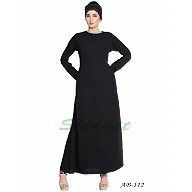 Simple inner abaya- Black