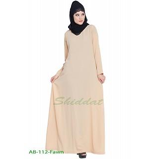 A-line inner abaya- Fawn color