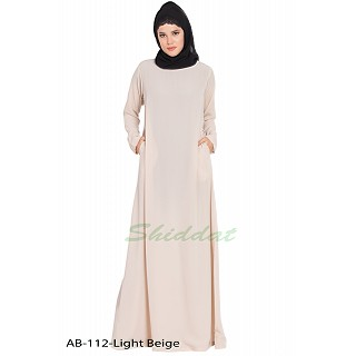 A-line inner abaya- Light Beige