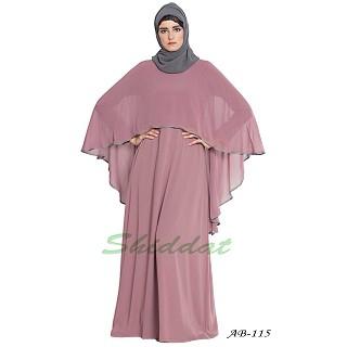Cape abaya- Puce Pink