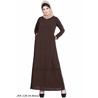 A-line inner abaya- Dark Brown