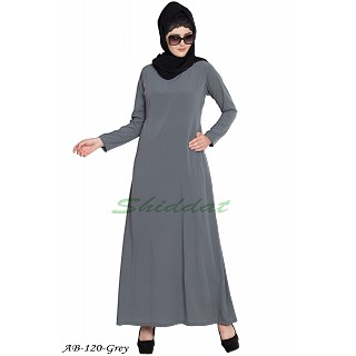 A-line inner abaya- Grey