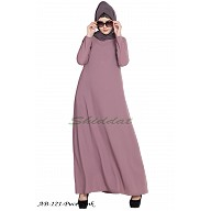 A-line inner abaya- Puce Pink