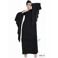 Fairy sleeves abaya- Black