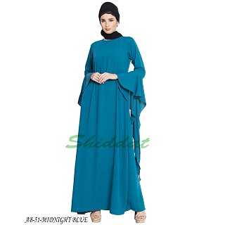 Fairy sleeves abaya- Midnight Blue