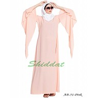 Fairy sleeves abaya- Pink