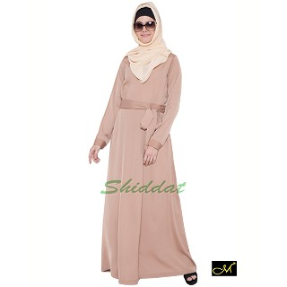 Designer Abaya in Beige color