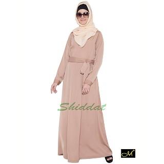 Designer Abaya in Beige color