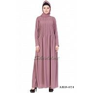 Designer Pin-tuck abaya- Puce Pink