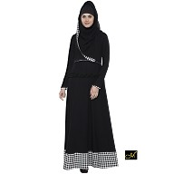 Islamic dress - Abaya in Black and White color
