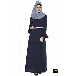Islamic maxi dress - Abaya in Dark Blue color