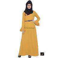 Islamic maxi dress - Abaya in Mustard color