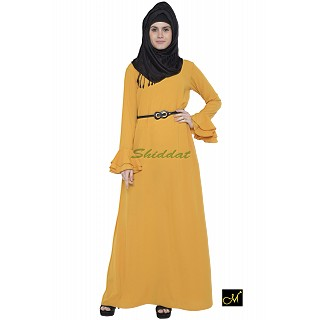 Islamic maxi dress - Abaya in Mustard color