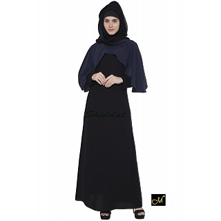 Dual colored Abaya - Poncho style