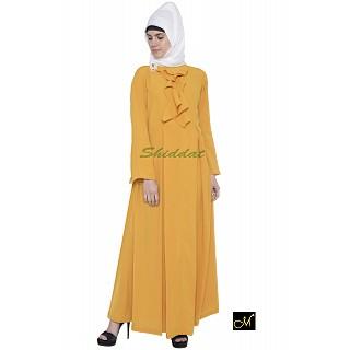Designer Abaya - Mustard color