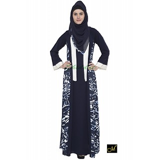 Dress Abaya- Blue Print